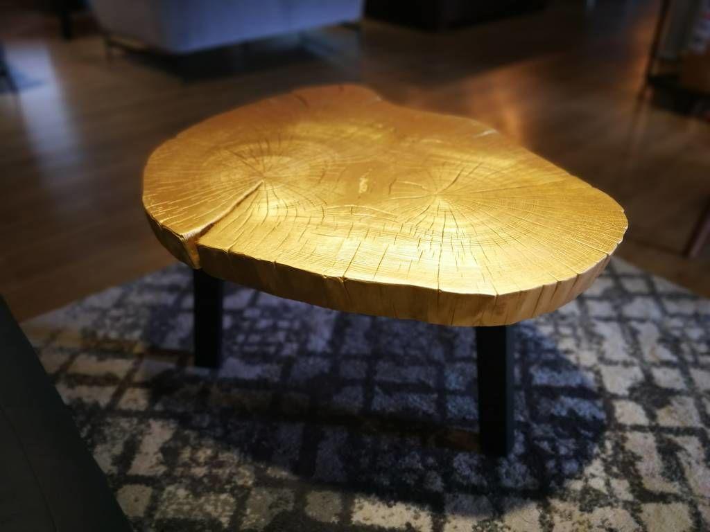 Ława / stolik plaster złoty