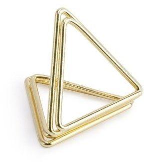 Stojaki na winietki Trójkąty złote 2,3cm 10 sztuk PCH3-2-019