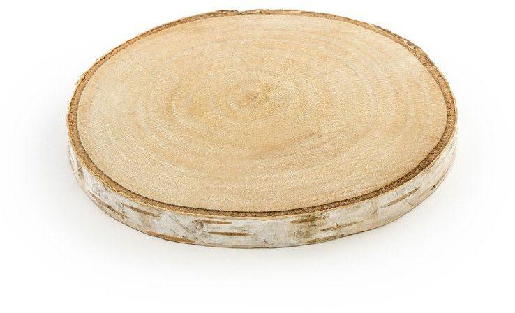 Podstawki drewniane na stół średnica 10-12cm 2 sztuki WDP2