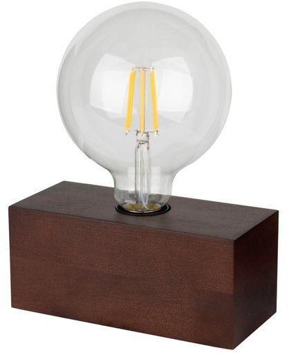 Lampa stołowa theo 1-punktowa z drewna bukowego w kolorze orzech 7460176