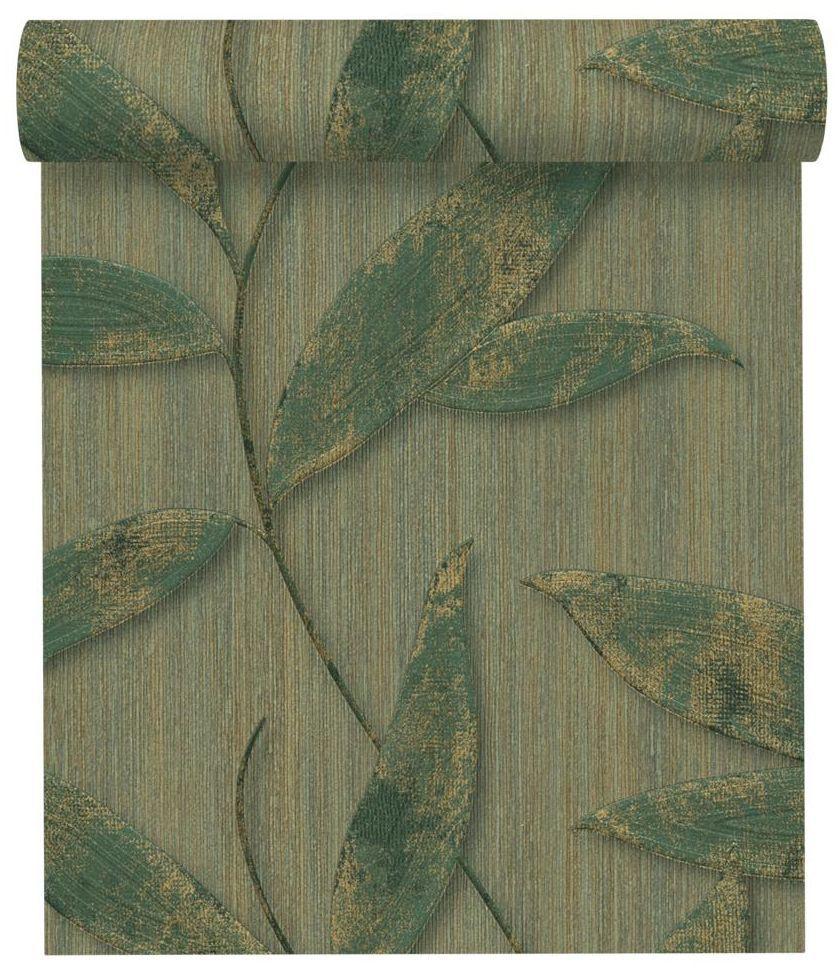 Tapeta w liście Rośliny zielona winylowa na flizelinie