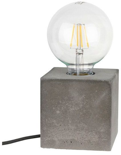 Lampa stołowa STRONG 1-punktowa lampa o szarej betonowej podstawie 6170936