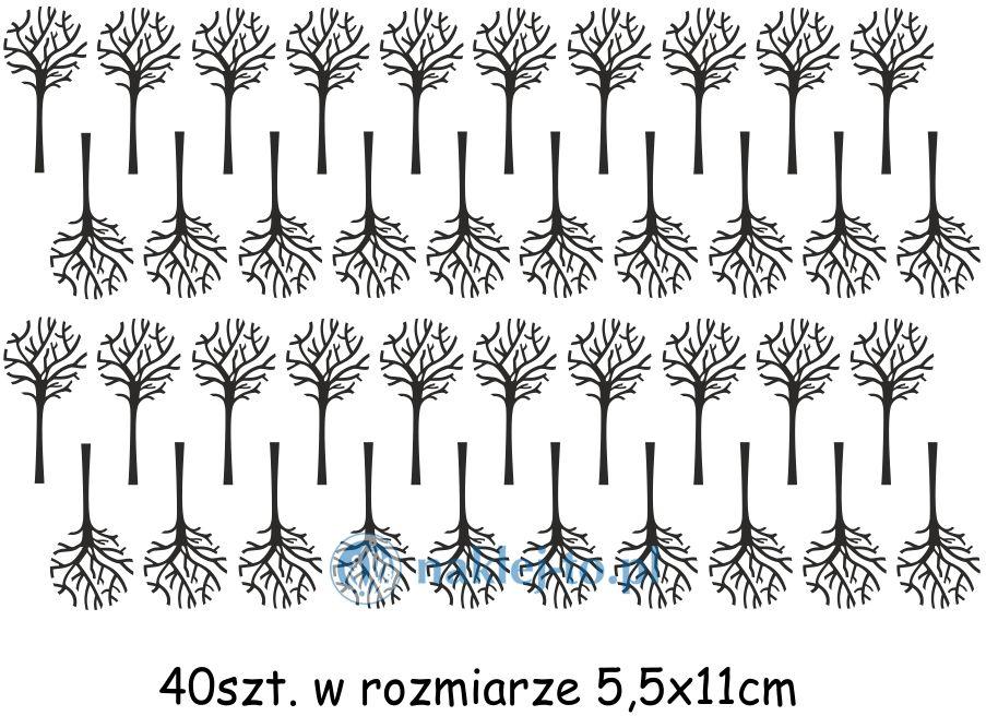 Drzewo zestaw naklejek naklejka na ścianę zestaw