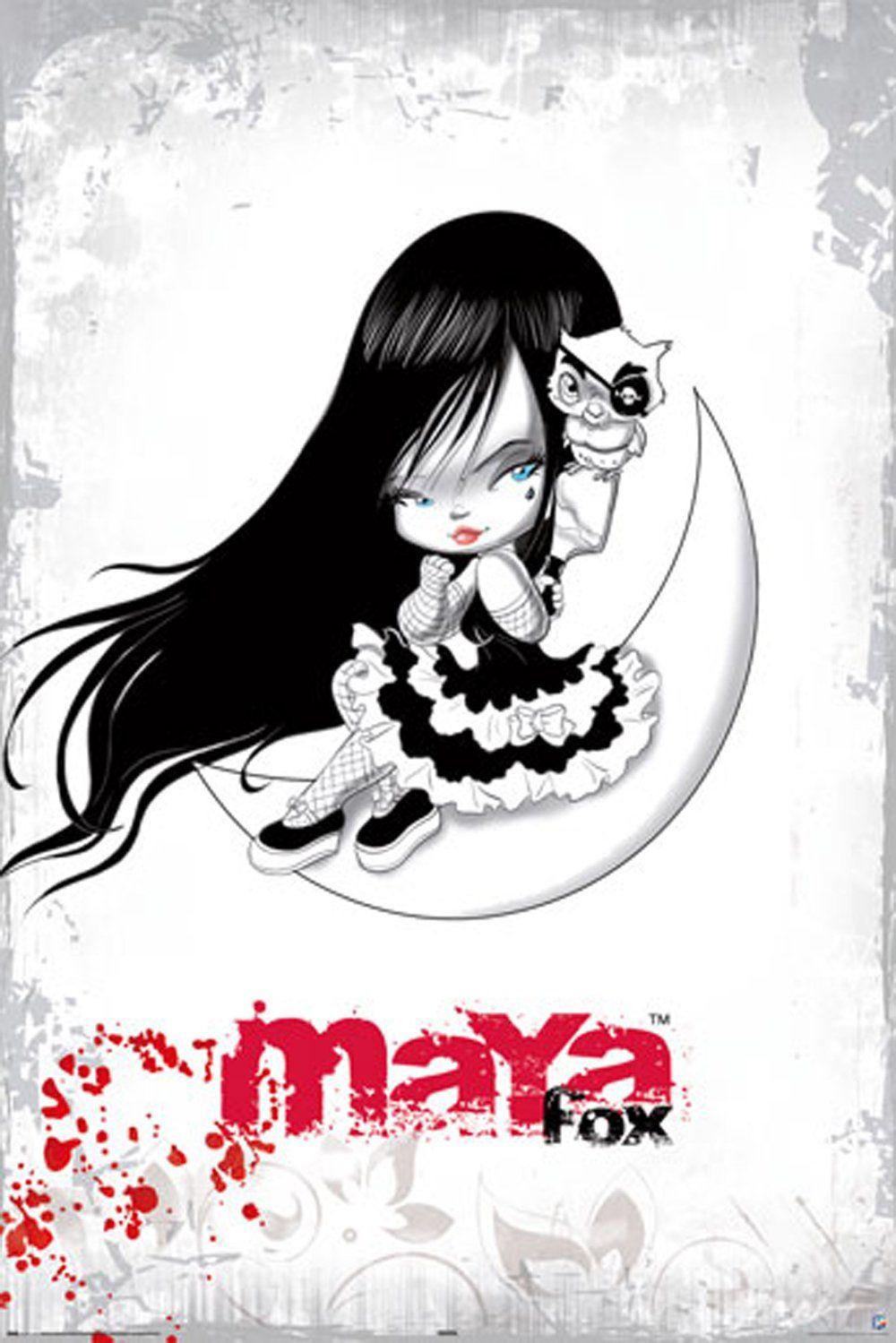 Empire 304643 Maya Fox Moon - plakat druk - 61 x 91,5 cm