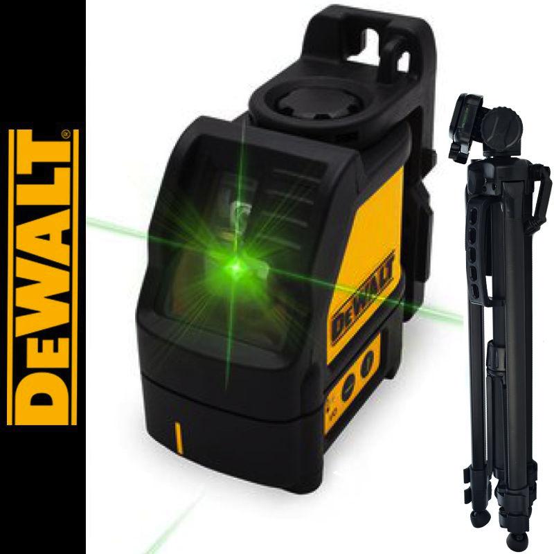 Laser liniowy krzyżowy zielony DW088CG DEWALT + Statyw aluminiowy 1,4m