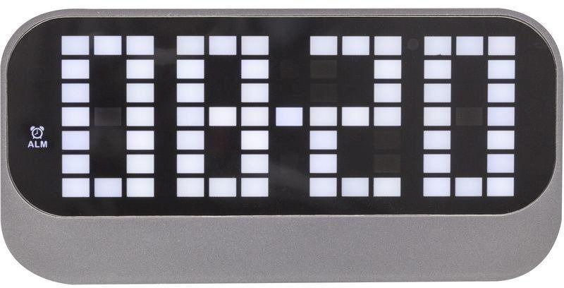 Nextime - zegar stojący loud alarm - czarny