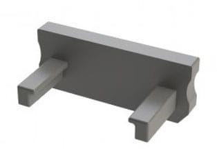 Zaślepka 1 sztuka do profilu LED nawierzchniowego typ D szara