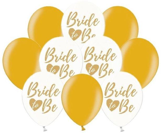 Balony na Wieczór Panieński złote 15 sztuk ZB21