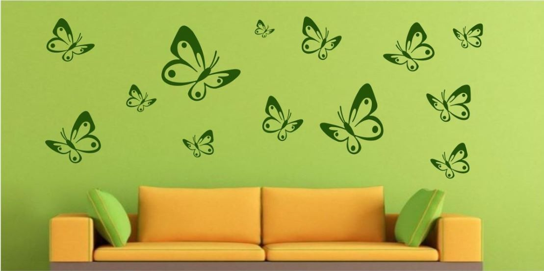 Mały zestaw motyle duże i małe