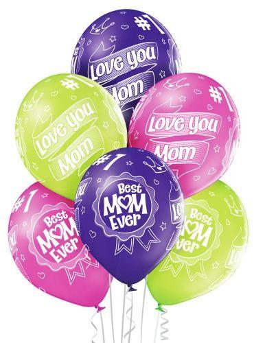 Balony dla Mamy, Best Mom Ever, 6 szt.