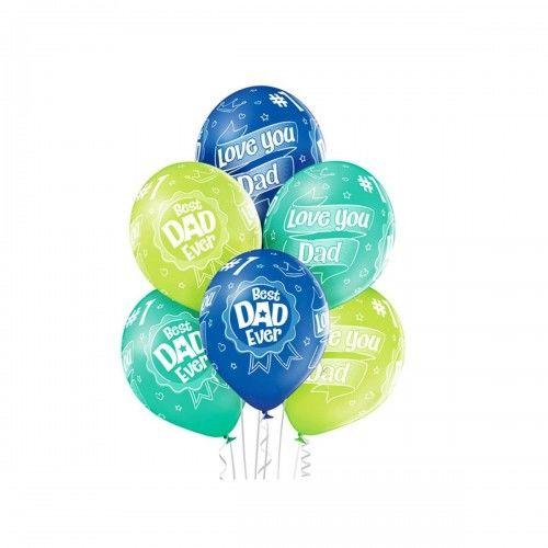 Balony dla Taty, Best Dad, Ever, 6 szt.