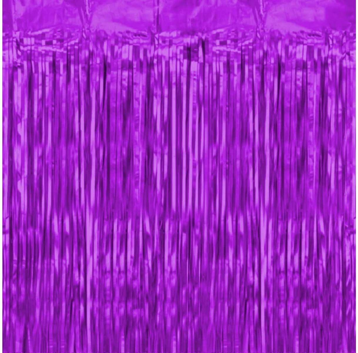 Kurtyna - zasłona na drzwi fioletowa - 100 x 250 cm