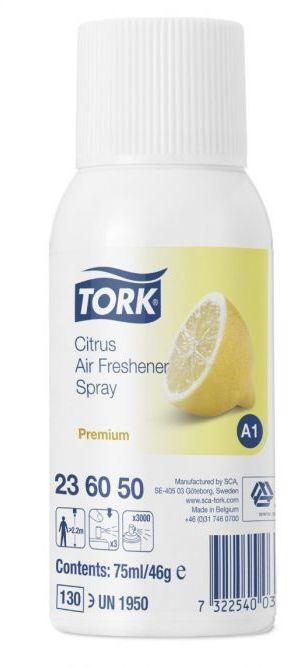 Odświeżacz powietrza w aerozolu Tork Premium cytrusowy