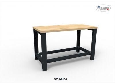 """Stół roboczy ST14/01 """"DWÓJKA"""" warsztat blat nośność 900 kg"""