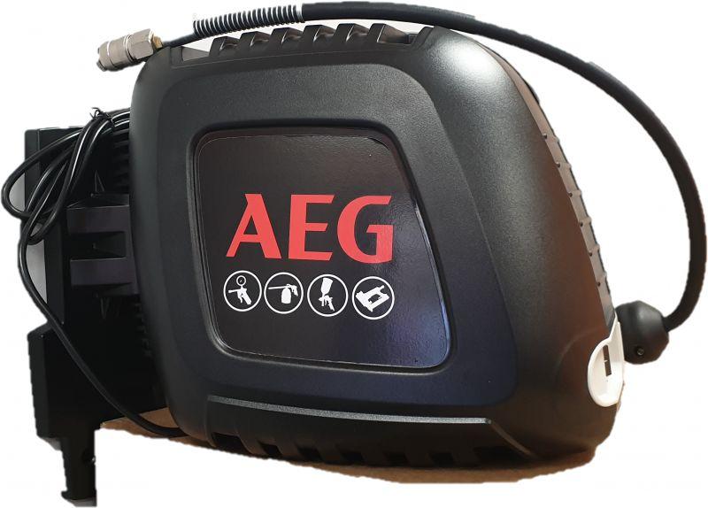 Sprężarka tłokowa bezolejowa OLH AEG ze zwijadłem