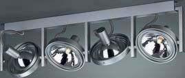 --- sztuka ekspozycyjna -- 53064/48/16 FAST - listwa 4x60W aluminium POLECAMY