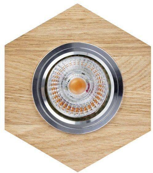 Lampa sufitowa VITAR WOOD oczko sufitowe wpuszczane sześciokąt drewno dębowe dąb olejowany, 2518174