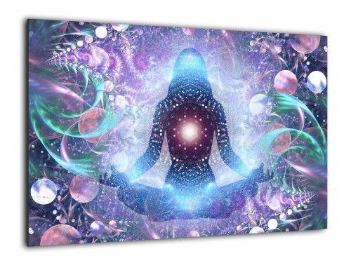 Obraz szklany JOGA ZEN LOTOS 60x40cm ozdobna szklana tablica magnetyczna