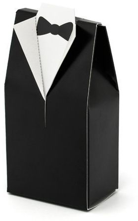 Pudełeczka dla gości weselnych Pan Młody frak bez tekstu 10 sztuk PUDP1-MA