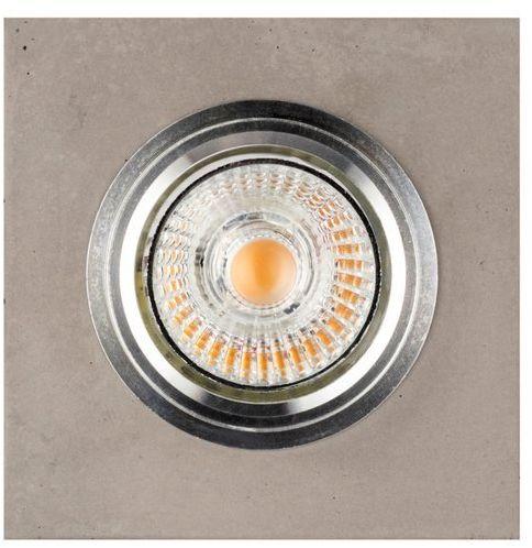 Lampa sufitowa VITAR CONCRETE oczko sufitowe wpuszczane kwadrat beton kolor szary, 2515136