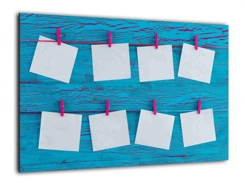 Obraz szklany PLANER NOTATKI 60x40cm ozdobna szklana tablica magnetyczna
