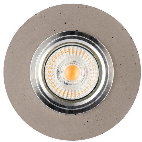 Lampa sufitowa VITAR CONCRETE oczko sufitowe wpuszczane okrągłe beton kolor szary, 2511136