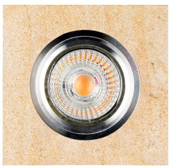 Lampa sufitowa VITAR SANDSTONE oczko sufitowe wpuszczane kwadrat z piaskowca, 2515139