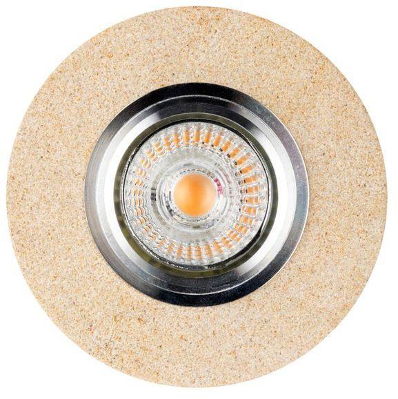 Lampa sufitowa VITAR SANDSTONE oczko sufitowe okrągłe wpuszczane z piaskowca, 2511139