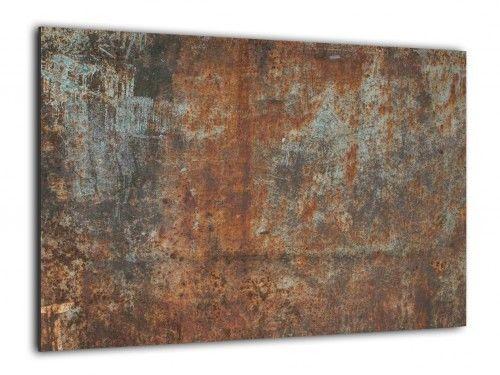 Obraz szklany RDZA KOROZJA 90x60cm ozdobna szklana tablica magnetyczna