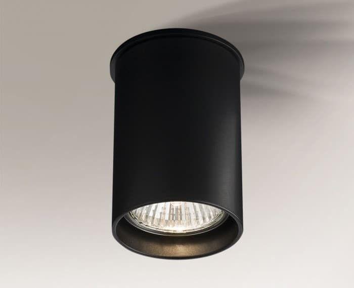 Tuba sufitowa Arida 9cm czarna GU10 1109 oprawa - Shilo // Rabaty w koszyku i darmowa dostawa od 299zł !