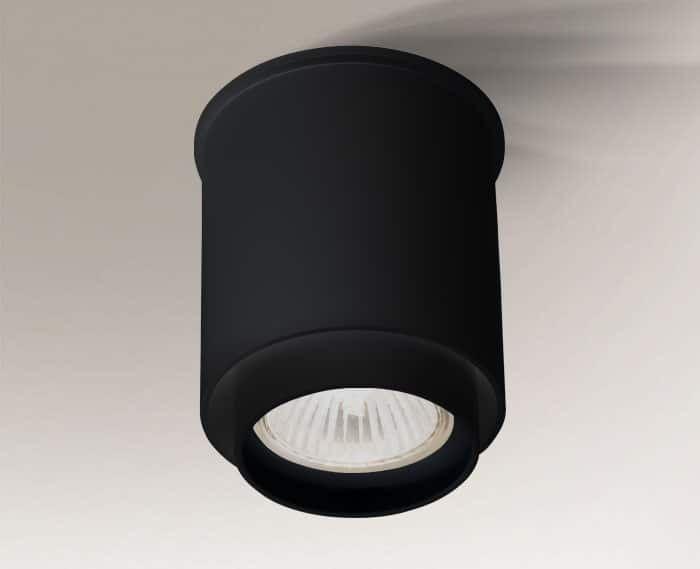 Iga tuba natynkowa 1 punktowa czarna GU10 1115 nowoczesna - Shilo // Rabaty w koszyku i darmowa dostawa od 299zł !