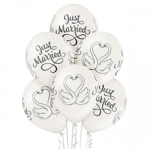 Balon na ślub Para Łabędzi