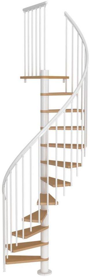 Schody spiralne CALGARY z dodatkowymi tralkami 120 cm Białe DOLLE