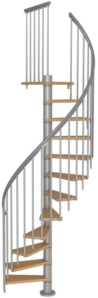 Schody spiralne CALGARY z dodatkowymi tralkami 120 cm Srebrne DOLLE