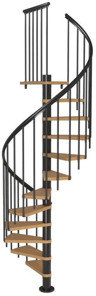 Schody spiralne CALGARY z dodatkowymi tralkami 120 cm Antracyt DOLLE