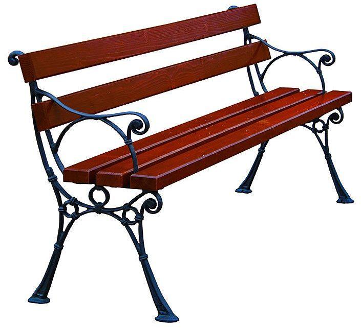 Ławka ogrodowa drewniana Venezia 4X z podłokietnikiem 180cm - 7 kolorów