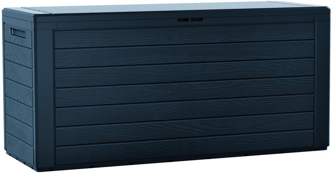 Skrzynia ogrodowa do przechowywania Woodebox antracyt, 190 l, 78 cm