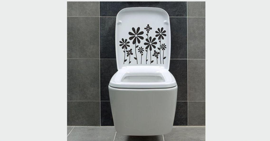 Naklejka do łazienki Kwiatki