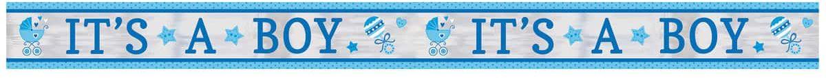 Niebieski baner na Baby Shower - 635 cm - 1 szt.