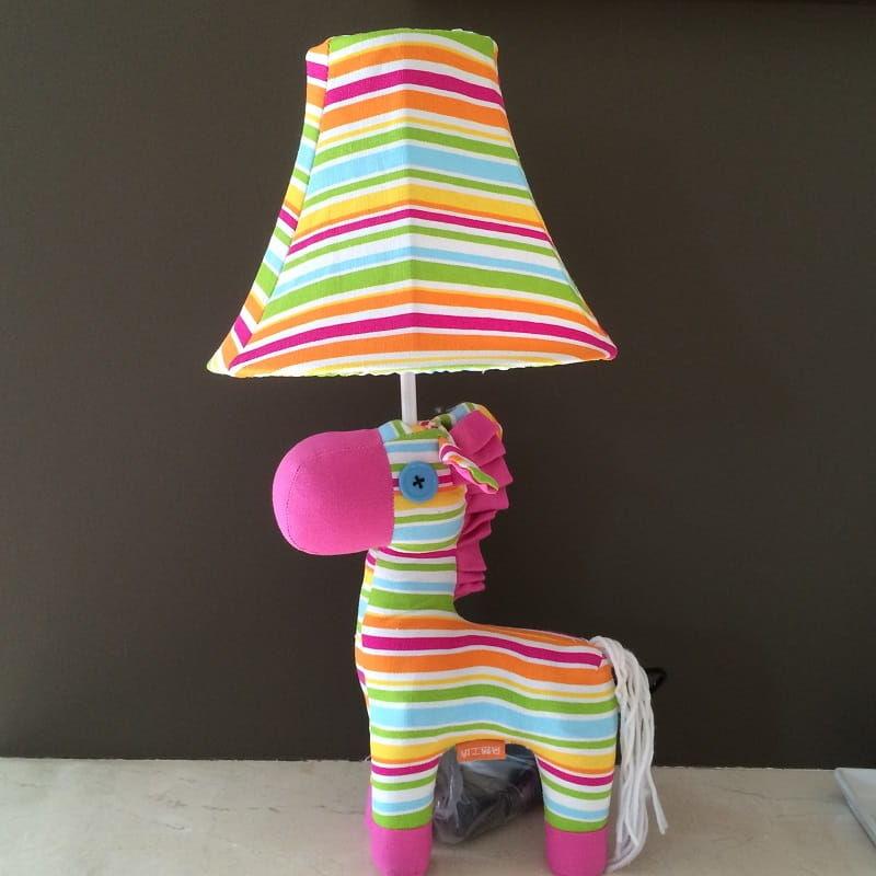 Lampka nocna dziecięca - Różowa zeberka