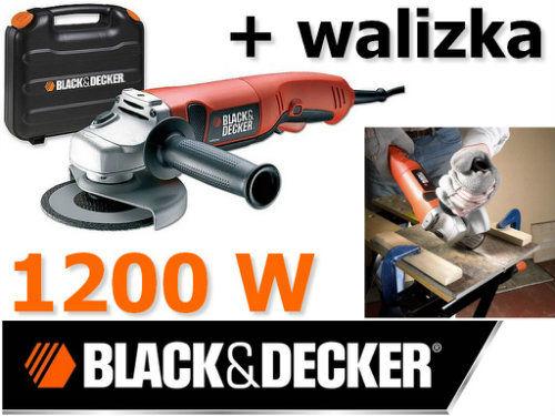 Szlifierka kątowa 1200W 125 mm BLACK&DECKER KG1200K