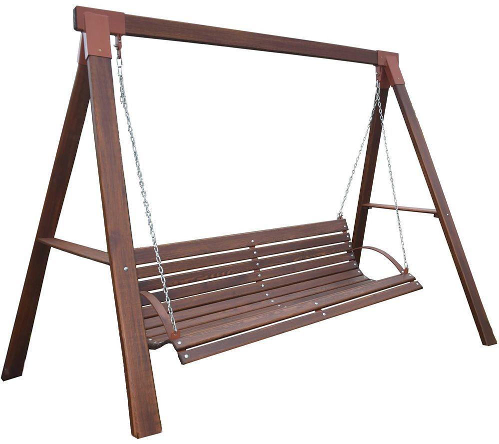 Ogrodowa huśtawka drewniana Magis 3X - 160 cm