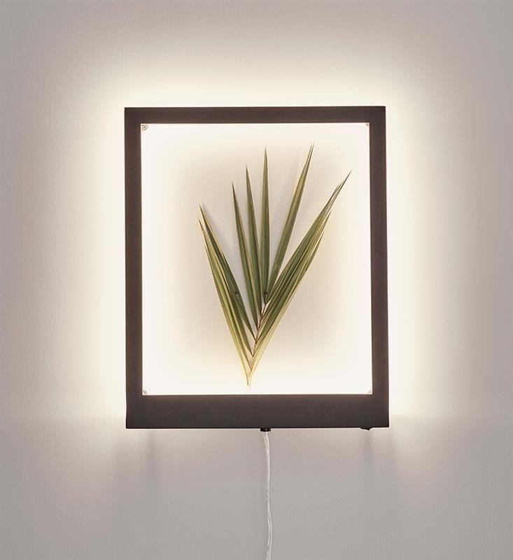 Markslojd kinkiet lampa ścienna Frame 107362 czarna LED 10W 3000K świecąca ramka