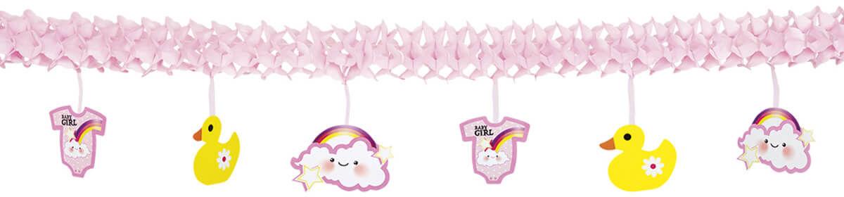Baner na Baby Shower różowy - 400 cm - 1 szt.