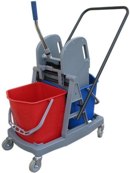 Wózek do sprzątania dwuwiadrowy, dwa wiadra 17 l. prasa do mopów Wózki do sprzątania, Merida