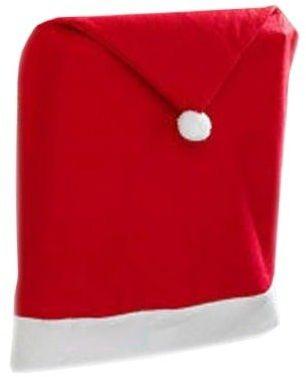 Pokrowiec na krzesło Czapka Mikołaja na święta Bożego Narodzenia - 2 szt.