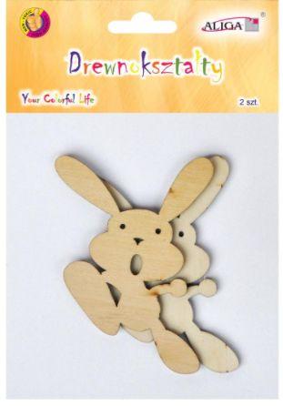 Drewniane zawieszki królik 10 cm 2szt CDW-9916-chodzący królik