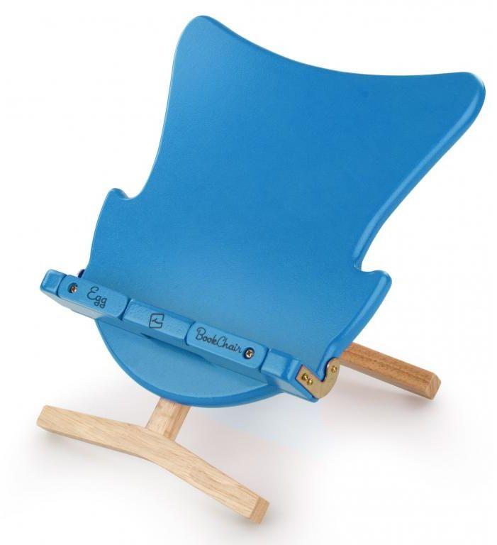 Stojak na książkę, czytnik i tablet Egg Bookchair Blue