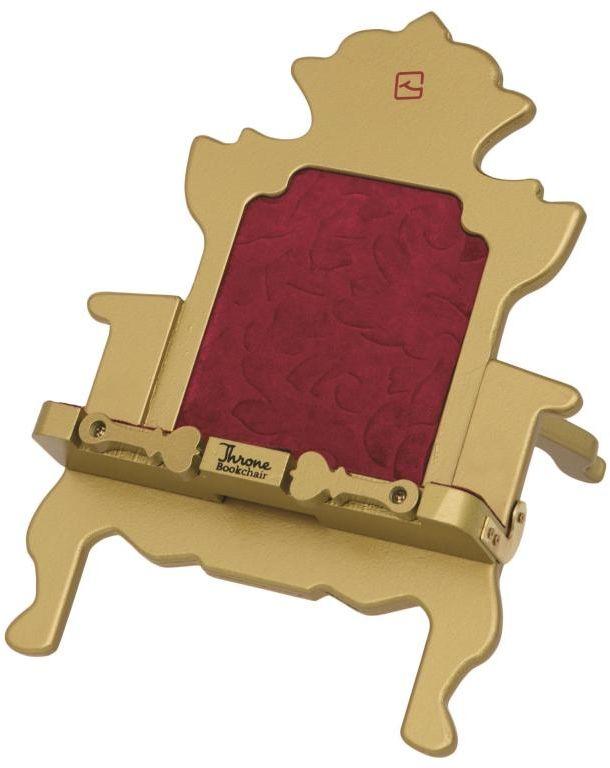 Stojak na książkę, czytnik i tablet Throne Bookchair Gold