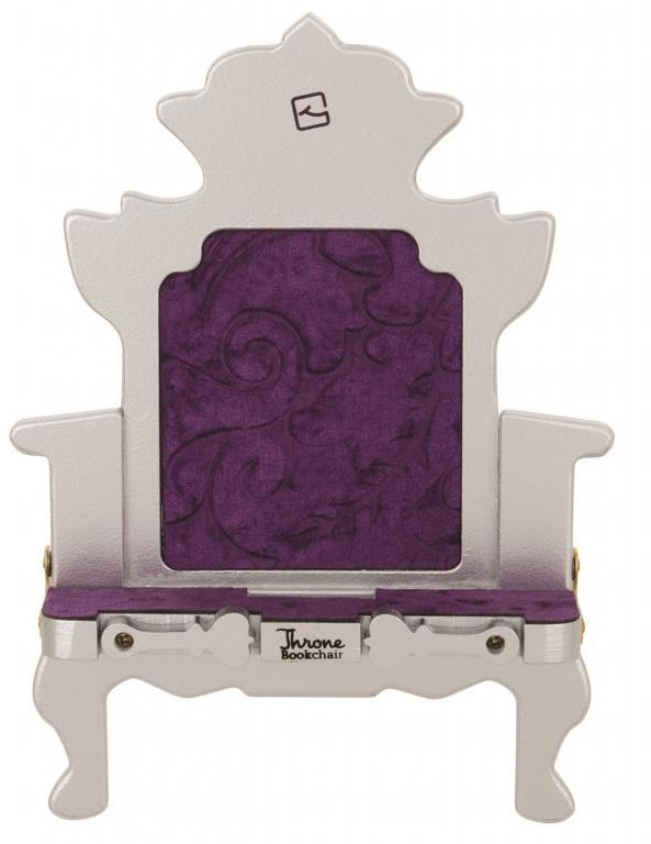 Stojak na książkę, czytnik i tablet Throne Bookchair Silver